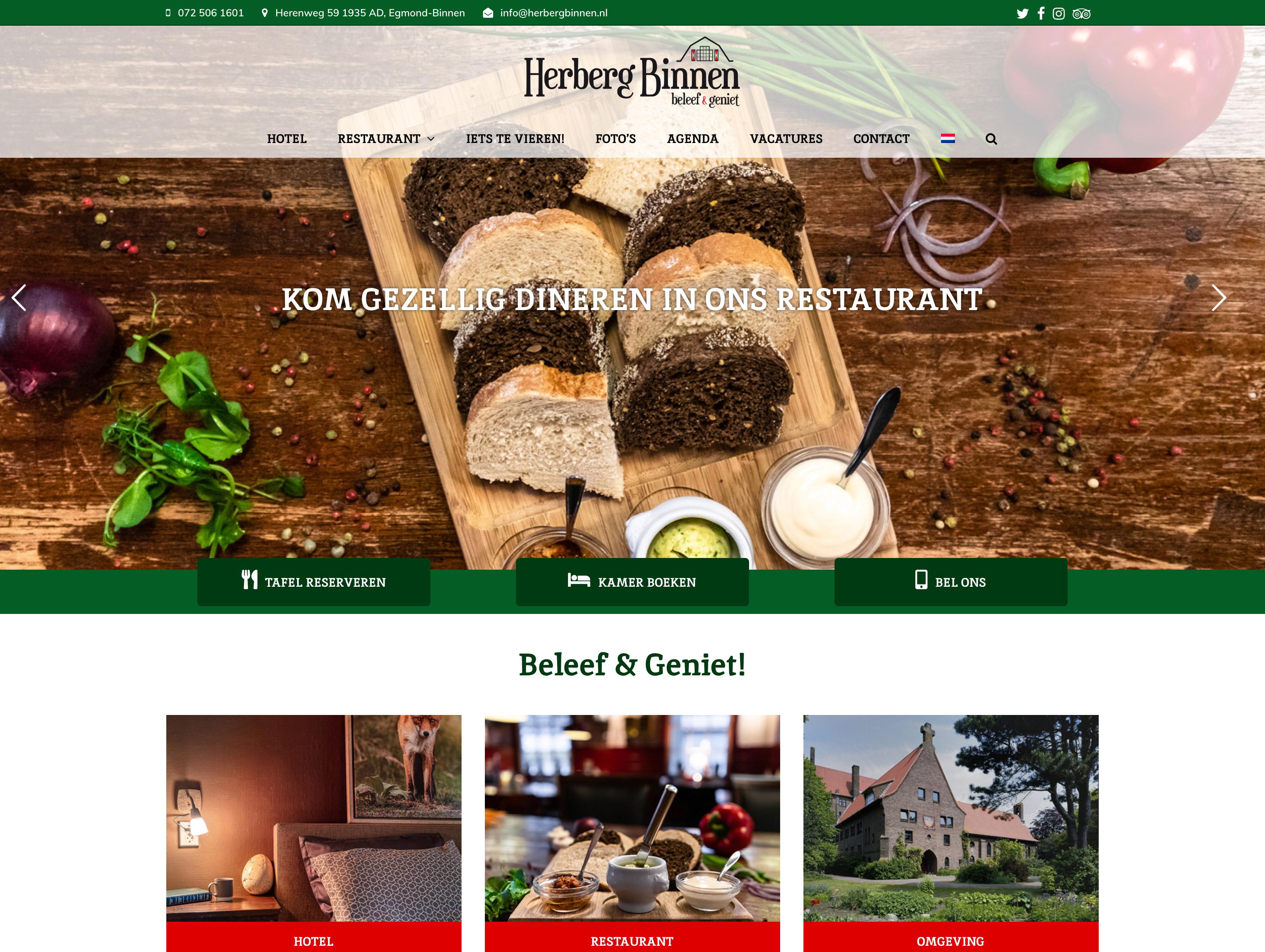 Neue Website Von Herberg Binnen Ist Live!